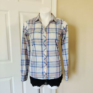 The North Face plaid button up shirt sz S